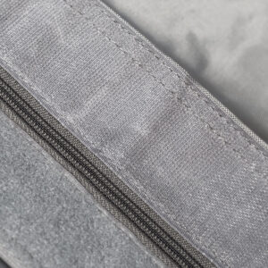 QSack Sitzsack Grau Reißverschluss