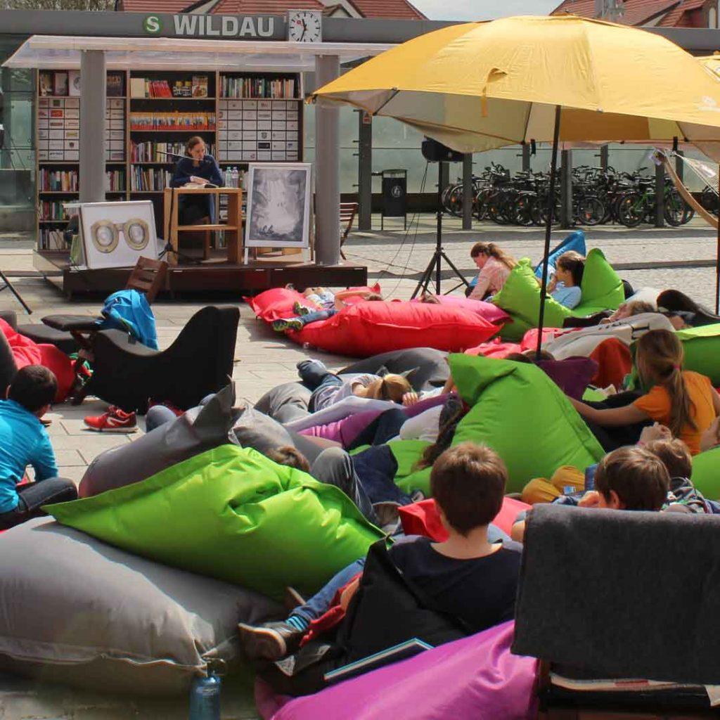 StadtLesen mit QSack Sitzack Lounge