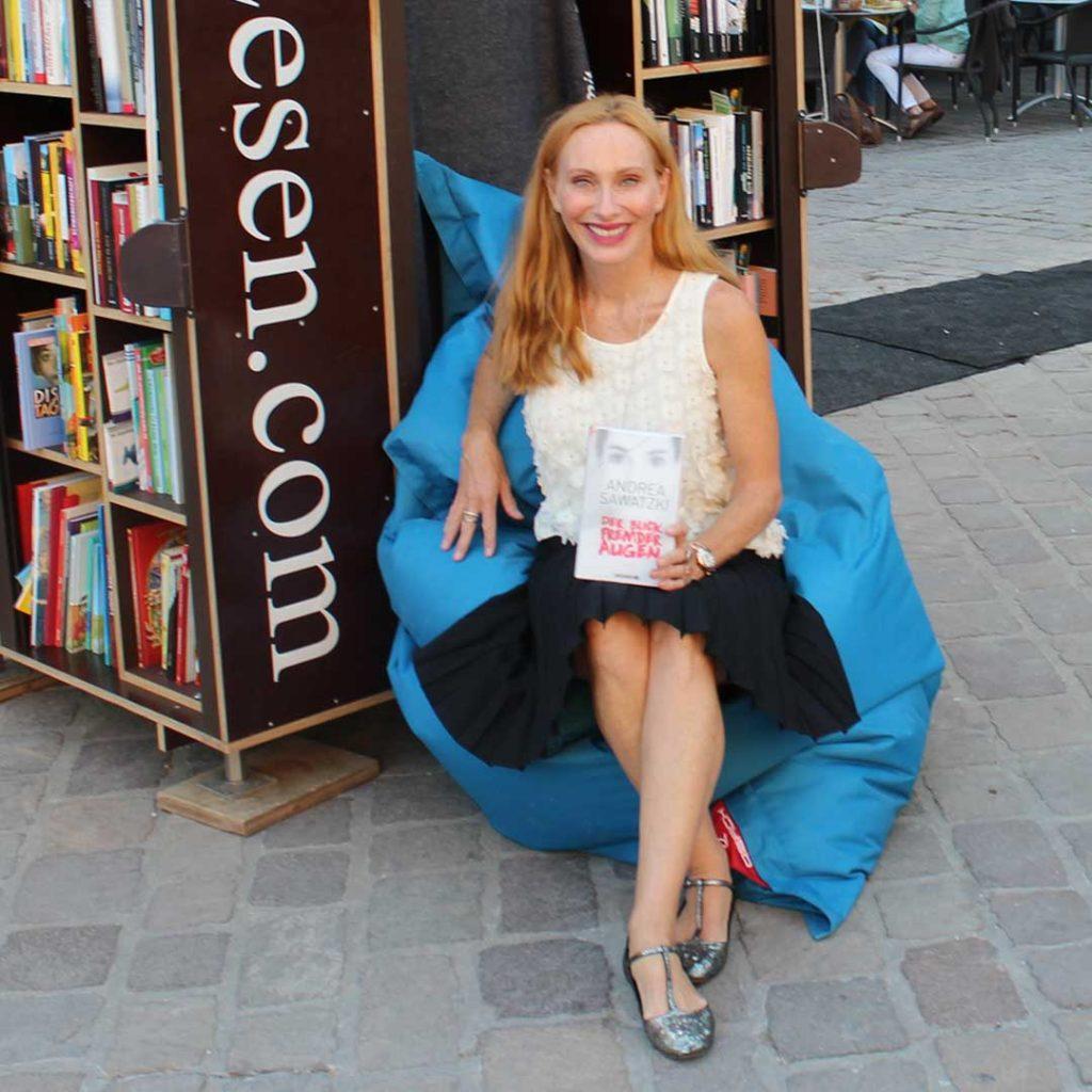 Andrea Sawatzki StadtLesen Sitzsack QSack