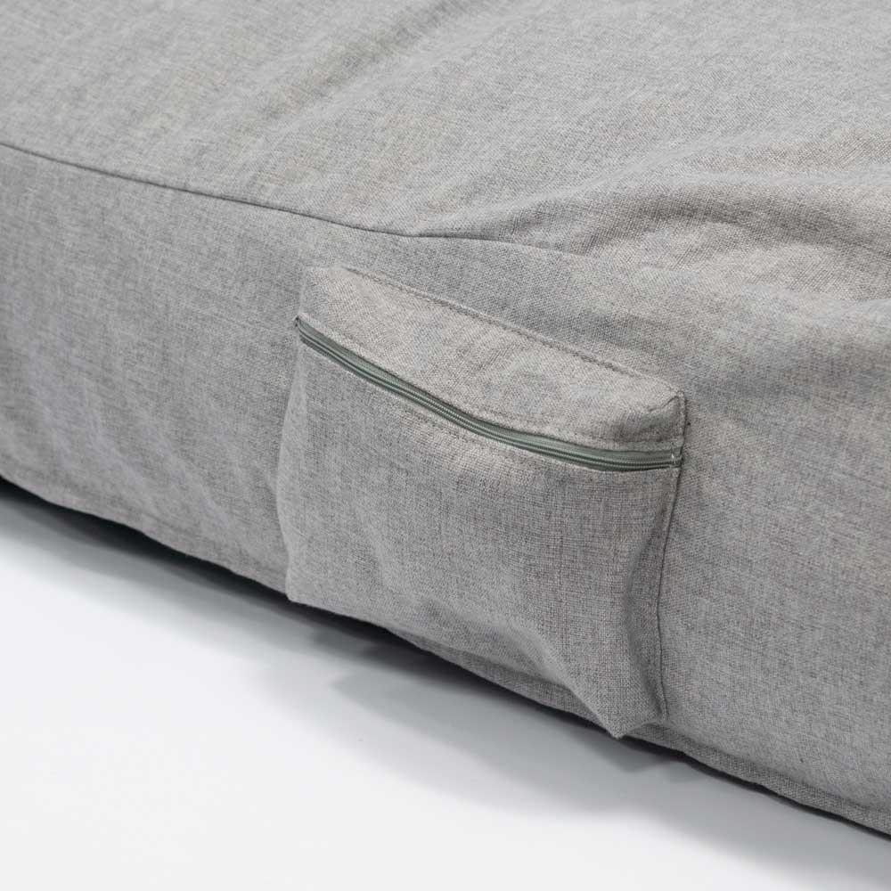 QSack Sitzsack Liege Indoor Seitentasche mit Reißverschluss