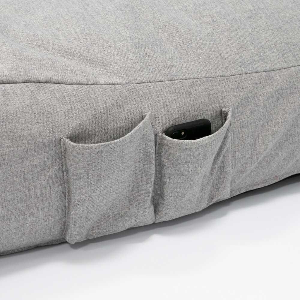 QSack Sitzsack Liege Indoor Seitentaschen