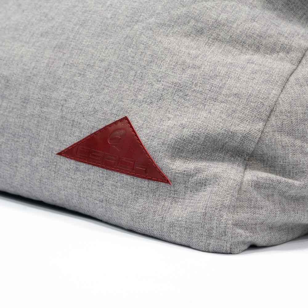 Sitzsack Liege Indoor QSack Logo rot